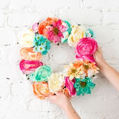 This Floral Wreath Combines ALL the Pinterest Trends via Brit + Co