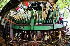 There's more foam stored on the North Shore of Oahu than anywhere in the world. Volcom house photo by Bielmann/SPL