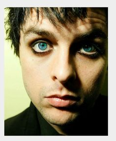 Well his eyes are green but still