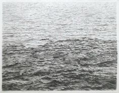 Vija Celmins (American, born Riga, Latvia, 1938), Drypoint—Ocean Surface (Between First and Second State), 1985. One-color drypoint on Rives BFK paper, 9 3/16 × 11 5/16 in. (23.4 × 28.7 cm) Plate: 7 13/16 × 9 7/8 in. (19.8 × 25.1 cm) Framed: 27 5/8 × 20 9/16 in. (70.1 × 52.2 cm). Vija Celmins © 2016 Vija Celmins