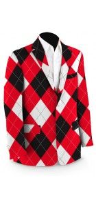 Red & White & Black Sport Coat
