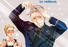 Image uploaded by ~Miss Prusia~. Find images and videos about germany, hetalia and Gilbert on We Heart It - the app to get lost in what you love. Prussia Hetalia, Hetalia Germany, Germany And Prussia, Hetalia Anime, Hetalia Funny, Otp, Hetalia Headcanons, Empire, Hetalia Characters