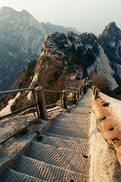 Mt. Huashan is one of the five sacred mountains of China.
