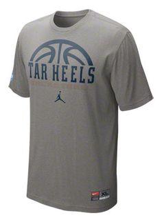 new arrival 09073 07c5a North Carolina Tar Heels Nike 2011-2012 Grey Heather Official Basketball  Practice T-Shirt