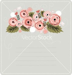 Floral stationary background vector on VectorStock®