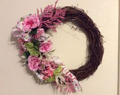 spring wreath Mother's day wreath floral by StylishDecorbyGClark