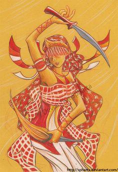 Iansa - brazilian orixa by spharta.deviantart.com on @deviantART