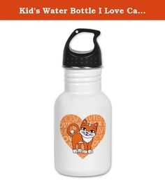 Kid's Water Bottle I Love Cats Kittens. Product Number: 0001-1443092401 Perfect for school lunches or soccer games, our kid's stainless steel water bottle quenches children's thirst for individuality. Personalized for what kids love, it's both eco-friendly and compact. Made of 18/8, food-grade stainless steel. * No lining & no BPA or other toxins * Wide mouth for easy drinking * Durable, BPA-free & phalate-free screw-on top * Holds 0.35L (nearly 12 ounces) * Thin profile to fit most cup...