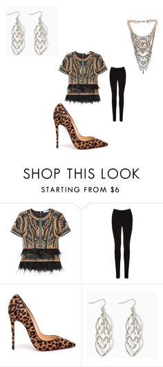 """""""For church"""" by jordanbond55 ❤ liked on Polyvore featuring BCBGMAXAZRIA, Oasis, Christian Louboutin and Tom Binns"""