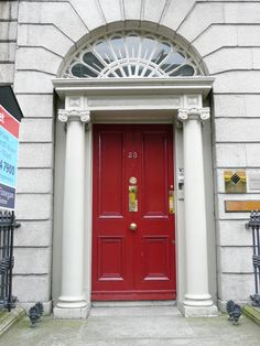 Dublin. One of the many 18th century doors in that city.