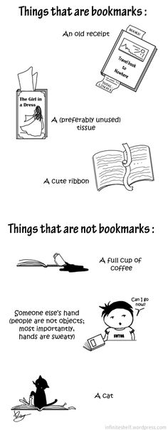 Things that are and are not bookmarks.