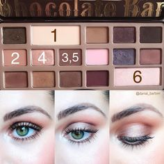 An oldie but a goody :) The original Chocolate Bar Palette White Chocolate- all over Base shade Salted Caramel- crease… Chocolate Bar Makeup, Chocolate Bar Palette Looks, Chocolate Bar Too Faced, Chocolate Bar Eyeshadow, White Chocolate, Natural Eye Makeup, Eye Makeup Tips, Skin Makeup, Beauty Makeup