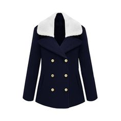 Coats - Double-breasted Fur Collar Dark Blue Coat #Pariscoming #Paris #fallfashion #fallstyle #falltrends #fallingfor #fall #winterfashion #winterstyle #wintertrends #winterfor #winter #cardi #clothing #inspirational #fashionable #ontrend #stylist #Styling #StreetStyleSeason #streetstyle #fashionblog #fashiondiaries #fashiondiary #WearIt #WhatYouWear If you like,follow me back and find it on our online store.