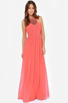 Little Mistress Divine and Dine Beaded Coral Maxi Dress at Lulus.com! @Jackie Lloyd @Shelly Hultin @Emily Weaver @Haily Jo