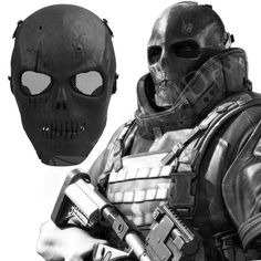 Skull Facemask Full Protect Mask With Black Eye Shield - LIMITED EDITION
