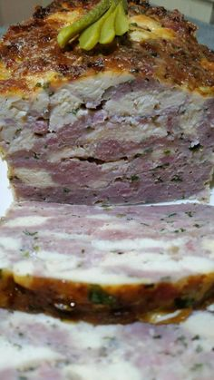 chicken terrine, sausage meat and lardons flavored with Cognac – Toffee … – The most beautiful recipes Chicken Terrine, Quiche, My Recipes, Cooking Recipes, I Want Food, Mousse, Salty Foods, Cooking Chef, Charcuterie