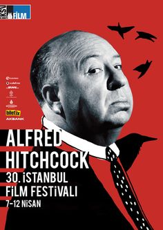 I'm a fan of all the posters by Turkish designer Gizem Vural's posters for the 30th Istanbul Film Festival (found on Behance) but can't help but love the Hitchcock one the best.