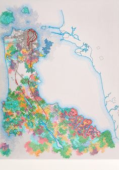 San Francisco, 1907 USGS map; the burned district, the city, and the principal conduits in the water supply system by Tiffany Chung | Artfinder