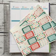 NEW! June Monthly Write-On Half Box Stickers for Erin Condren Life Planner/Plum Paper Planner - Set of 32