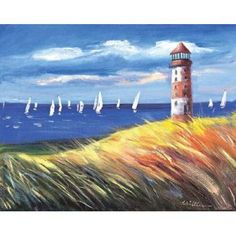 Posterazzi Lighthouse II Canvas Art - Katharina Schottler (22 x 28)