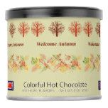 Welcome Autumn Leaves Trees Colorful Hot Chocolate Powdered Drink Mix #thanksgiving