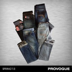 Whether you are out with friends or just taking a break, your denims are your faithful companion. These comfort-fit faded denims are made for everyday wear. Get yours at a Provogue Store near you!