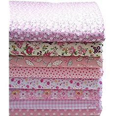 KING DO WAY Pack Of Series 8 Assorted Pre-Cut Fat Quarters Bundle Charm Cotton Quilt Fabric Patchwork Purple 40x50cm: Amazon.co.uk: Kitchen & Home