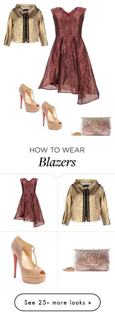 """""""Untitled #1383"""" by sep120 on Polyvore featuring Christian Louboutin, Chanel and Dsquared2"""
