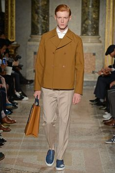 Ports 1961 Men's RTW Spring 2015 - Slideshow  Like jacket silhouette with pants.  Like jacket and shoe colors.