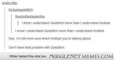 I can name more pro quidditch teams than soccer teams...
