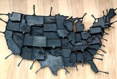 Cast iron pans in the shape of every contiguous US state! Buy individually or the whole set to make a huge pan-map! You'd go hungry if you only bought Rhode Island though! :)