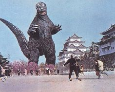 Godzilla movies from the 1960's.  Every Saturday afternoon Monroeville PA kids would pile into the Monroe Theater!!