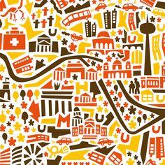 Affiche de Berlin Carte illustré par VianinaPoster sur Etsy, €29.90