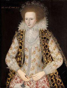 File:Circle of William Larkin Elizabeth Honeywood 1617.jpg love this!!  She is 23 years old