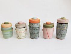 Clay pottery ceramic jars.