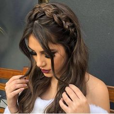 12 Easy Braids For Long Hair - Frisur ideen - Cheveux Box Braids Hairstyles, Pretty Hairstyles, Half Braided Hairstyles, Updos Hairstyle, Fashion Hairstyles, Style Hairstyle, Medium Hairstyles, Elegant Hairstyles, Formal Hairstyles