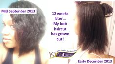 BEFORE & AFTER: Hair growth 12 weeks after my bob haircut. I've been washing w/ K.j. Naturals handmade shampoo bars then using the deep conditioning masks. Lastly, I seal moisture & style with Jamaican Jelly and/or Hemp Hair Butter with Carrot Extract.   It's about 1 to 1.5 inches longer now and soft/healthy. If you'd like to try any products, use promo code: NEWFRIEND to get $5 off any $25 purchase.