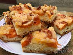 Babiččin kynutý meruňkový koláč s drobenkou | NejRecept.cz Nutella, Quiche, French Toast, Sandwiches, Pie, Breakfast, Sweet, Desserts, Food
