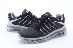 Haute Qualité Nike Air Max 2015 Homme Chaussures De Running Blanc Gris,  wwwnikeboutique.com