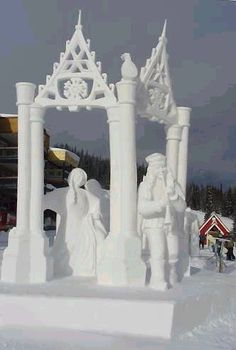 canadian snow sculpture