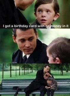 I got a birthday card with no money! For more fun visit: http://lolozaur.com