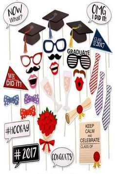 Graduation Photo Booth Props, Graduation Party Masks Photo Props Kits for Kids Boy Girl Graduation Party Favors Supplies Decorations Graduation Party Favors, Graduation Photos, Grad Parties, Graduation Backdrops, Graduation Crafts, Photo Booth Party Props, Photo Props, Mask Party, Party Photos