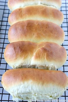 Perfect Homemade Hot Dog Buns. These Hot Dog buns have just the right texture & flavor.