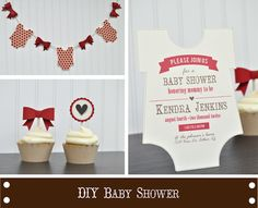 Hi friends! Here's some baby goodness to start your week. The adorable onesie shape worked great for both invitation and banner, and the 3d bow was the perfect addition to the banner as well as the cupcakes. You can really let the shapes in the online store work for you when it comes to...