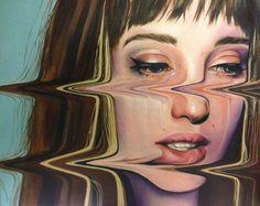 painting portrait glitch - Google Search