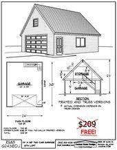 24 39 X 30 39 Zweistockige Garage Amp Garage Gardengarageideasdiyproje Garage Plans Garage Plans With Loft Two Story Garage