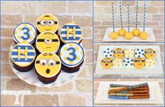 Minion Dessert Table www.facebook.com/i.love.cuteology.cakes