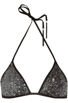 Agent Provocateur Zonia sequined triangle bikini top $220