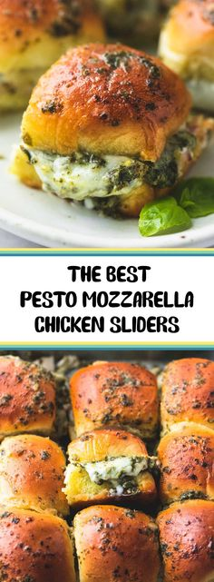 Healthy Life - Easy cheesy five ingredient hot and melty pesto mozzarella chicken sliders make the ultimate appetizer for parties […] Cake Surimi, Pesto Mozzarella Chicken, Slider Sandwiches, Chicken Sliders, Pesto Chicken Sandwiches, Beef Sliders, Cooking Recipes, Healthy Recipes, Recipes With Pesto