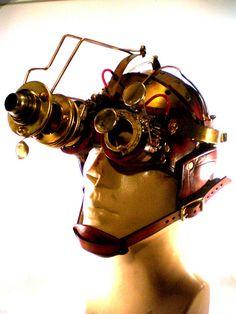 #Steampunk night vision goggles. #Steampunkgoggles
